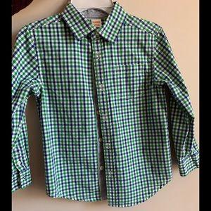 Gymboree Boy's Button Up Plaid Shirt Size S(5-6)